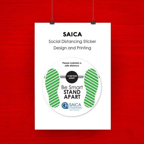SIACA - Social Distancing Stiker Artwork
