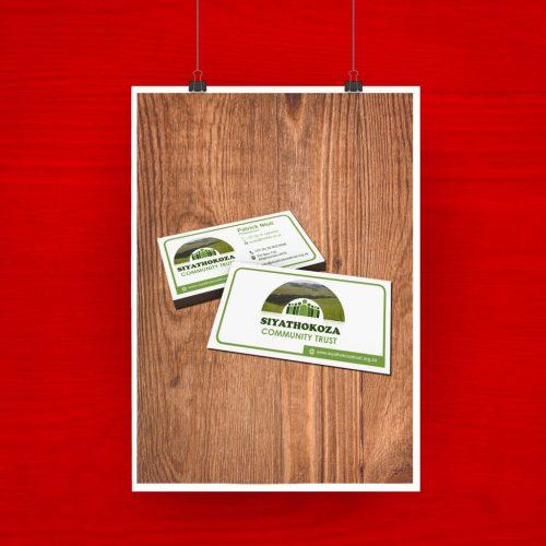 Siyathokoza Community Trust Business Card artwork 3